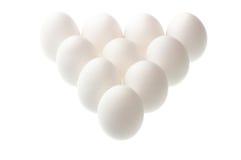 Eggs on white. Standing eggs on white background Stock Photos