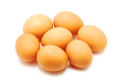 Eggs on white Stock Image