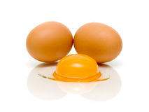 Eggs on a white background Royalty Free Stock Photo