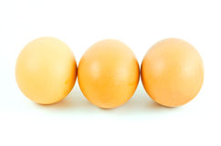 Eggs  on white background Royalty Free Stock Photos