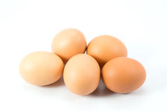 Eggs. The eggs isolated on white background Royalty Free Stock Photography