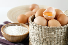 Eggs on white background Stock Photography