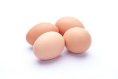Eggs on a white background Royalty Free Stock Photography