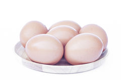 Eggs  on white background Royalty Free Stock Images