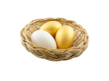 Eggs  on White Background Stock Photos