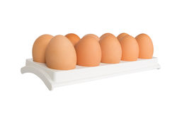 Eggs in white container Stock Image