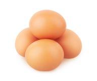 Eggs on white Royalty Free Stock Photo