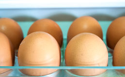 Eggs on a white shelf Royalty Free Stock Image
