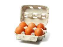 Eggs on White Royalty Free Stock Images