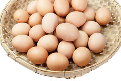 Eggs in the winnowing basket Royalty Free Stock Images