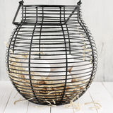 Eggs in wire basket Royalty Free Stock Image