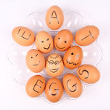 Eggs With An Inscription EAT EGGS Stock Photography