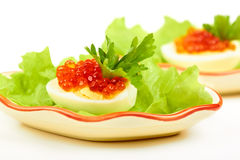 Free Eggs With Red Caviar Royalty Free Stock Image - 21170076