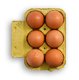 Eggs on wooden table. Stock Photo