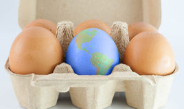 Eggs with world earth texture Royalty Free Stock Photo