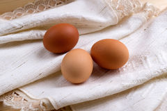 Eggs wrapped in cloth Royalty Free Stock Image