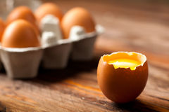 Eggs with Yolk Stock Images