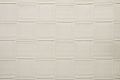 Eggshell white color artificial fabric large square web texture Royalty Free Stock Image