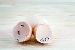 Eggshells write Stock Image