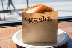 Eggslut sandwitch royaltyfria foton