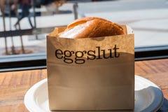 Eggslut sandwitch royaltyfri foto