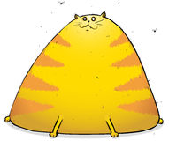 Eggy The Fat Cat Cartoon Illustration Royalty Free Stock Photography