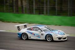 Egidio Perfetti Porsche 911 Cup at Monza. Tsunami RT Team is testing his Porsche 911 (997) GT3 Cup that will compete in the Porsche Carrera Cup France 2016 Stock Photo