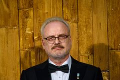 Egils Levits, President of Latvia stock photography