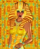 Egipcio, Cleopatra en nuestro estilo digital moderno del arte, cierre para arriba Foto de archivo libre de regalías
