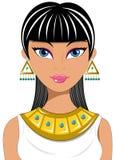 Egipcio hermoso del retrato de la mujer Foto de archivo