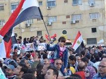 Egipcios que protestan brutalidad del ejército contra mujeres Fotografía de archivo libre de regalías