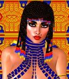 Egipcjanin, Cleopatra w nasz nowożytnym cyfrowym sztuka stylu, zakończenie up zdjęcie stock