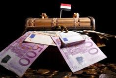Egipcjanin flaga na górze skrzynki Obraz Stock