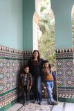 Egipcjanin matka z dziećmi przy Fatimid Kair Obraz Stock