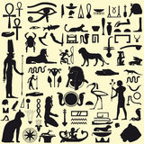 egipcjanin podpisuje symbole Fotografia Royalty Free