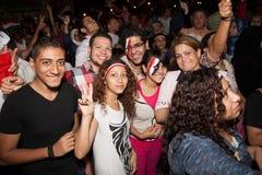 Egipcjanin zaludnia udzielenie rewolucję zdjęcia stock