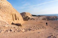 Egipscy antycznej świątyni rytownictwa dalej Zdjęcie Stock