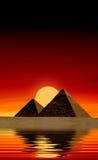 egipscy ostrosłupy ilustracja wektor