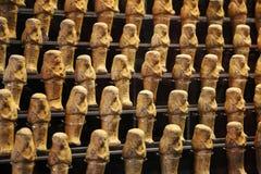 Egipscy złoci posążki zdjęcie stock