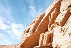 Egipska świątynia Abu Simbel, Egipt zdjęcie royalty free