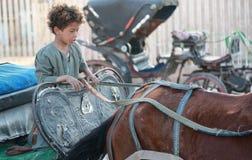 Egipska chłopiec Fotografia Royalty Free