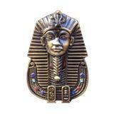 Egipska pharaohs maska odizolowywająca na bielu, Obrazy Royalty Free