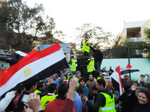 Egipska rewolucja 25 Styczeń Obrazy Stock