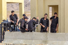 Egipska rządowa policja wojskowa zdjęcia stock
