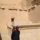 Egipski świątynny przewdonik Zdjęcia Royalty Free