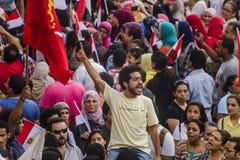 Egipski aktywista Protestuje Przeciw Mors Zdjęcia Royalty Free