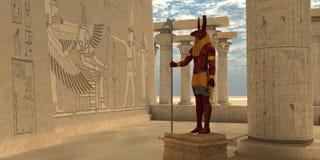 Egipski bóg Seth royalty ilustracja