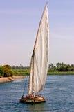 egipski felucca Nile żeglowanie Obraz Stock