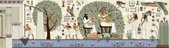 Egipski hieroglif i symbol ilustracji