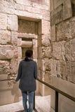 Egipski hieroglif na ścianie Obraz Stock